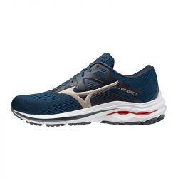 Mizuno - zapatillas mizuno wave inspire 17 42 5451 - indian ink / platinum gold / ignition