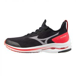 Mizuno - zapatillas mizuno wave rider neo 42 5068 - black / white / ignition red